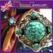 英国 MIRACLE ターコイズ カボッションガラス あざみ ヴィンテージ スカーフリング 1960s スコティッシュ