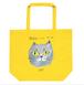 猫トートバッグ「ブリティッシュショートヘアー」たっぷり大容量 L サイズのトートです! イエロー