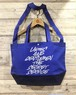 Ladies and Gentlemen / The Secret Service:Typography LOGO  / COBALTBLUE / NAVY / BiCOLOR BODY / GRAY PRINT : DBKLAGTS-BAG / 2WAY SHOULDER TOTE