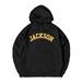 COLLEGE LOGO J HOODIE M381506-BLACK / フード スウェット パーカー ブラック 黒 MARATHON JACKSON マラソン ジャクソン