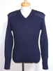 1980's~ Blauer Vネックコマンドセーター ENGLAND製 ネイビー 表記(M)