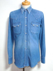 1960's デニムウエスタンシャツ ソートゥースフラップポケット 実寸(M)