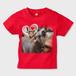 大好き、ママさん キッズTシャツ レッド