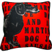 Jimmie Martin Cushions Red Graphic sausage dog [FRONT]