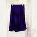 ブルー×ブラック チェック柄ウールフレアスカート
