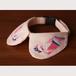 embroidered collar -flamingo-