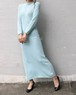 skyblue spring knit dress