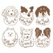 Daruma illustration/Portraits of Dogs, Cats and Pets