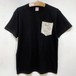 MIZYURO 2tone S/S POCKET Tshirt / BLACK