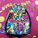 90s lisa frank smileface bagpack