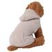 【送料無料】  犬服(ドッグウェア) ペット服 ふわふわニット パーカー シンプル無地 グレージュ