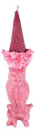 フクロウアイスキャンドル red&pink