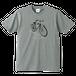 モンテカルロ(グレー)|懐かしい変速自転車Tシャツ