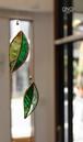 岩田けいこ*ステンドグラス キラキラシリーズ リーフ(黄緑)