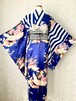 鶴とストライプの着物(真空色)