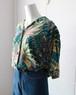 green silk botanical shirt
