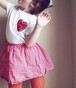 "【送料無料】T-shirt for kids ""Heart"""