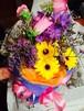 生花 ガーベラとカンパニュラの花束