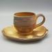自然釉コーヒカップ&ソーサーセット〈OS-D01-6〉