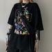 ゴスロリ系 半袖 Tシャツ 手書き風 病み可愛い くま カラフル 黒 白 ストリート系 原宿系 オルチャン 10代 20代