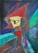 森の王子(アクリル絵画)