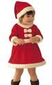 パパ、ママへプレゼントを届けるサンタになる♥ミニサンタ 衣装 女の子 90cm
