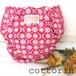 布おむつカバー  パンツタイプ 80-95 花と蝶々 ピンク×cottorinタグ