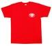 スネークピットジャパン胸マークTシャツ 赤 (前後プリントあり)