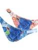 ICE COOL デニムプリントひえひえバンダナ(保冷剤付き) ブルー・オレンジ Mサイズ