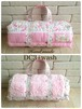 キャリーマットベッド ピンク小花 Lサイズ ペットベッド