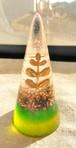 円錐形オルゴナイト(グリーン&黄)