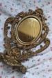 イギリス 真鍮製(ブラス)小さなミラー ミラー 真鍮 ブラス