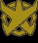 BADFALLロゴステッカー ゴールド10