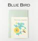 紙刺繍・青い鳥カードセット