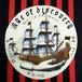 帆船柄名古屋帯「Age of discovery」ブラック×レッド