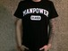 MANPOWER Official T-shirts College logo / BLACK