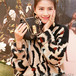 セーターニット アニマルプリント 女性向け 韓国 プライマーシャツ 丸えり 大人気 エレガント スタイリッシュ セーター ユニーク カッコイイ
