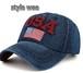 デニム キャップ USA 星条旗 ユニセックス・3色あり(オリジナル)ユニセックス