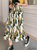 花柄 ハイウエスト ロングスカート プリーツスカート きれいめ 春夏 リゾート カジュアル 20代 30代 体型カバー