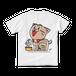<白Tシャツ 両面>おすわりみーちゃん