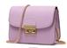 紫 レザー ショルダーバッグ 革 バッグ レディース