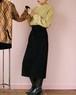 80's black suede skirt