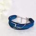 ★H様ご注文品 ●kono (blue)絹組ひも5連ブレスレット