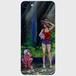 【スマホケース】iPhone 7/8強化ガラス仕上げ ヤブさんと私。「お魚くわえた子鬼くん」