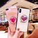 ハート ポイント 可愛い iPhone シェルカバーケース ホワイト ピンク グリップトック シンプル ★ iPhone 6 / 6s / 6Plus / 6sPlus / 7 / 7Plus / 8 / 8Plus / X ★[MD442]