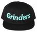 GRINDERS logo snap back CAP (black x tiffany)