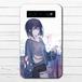 #085-007 モバイルバッテリー おすすめ iPhone Android かわいい おしゃれ 男性 向け 女の子 イラスト スマホ 充電器 タイトル:indigo 作:灰染せんり