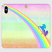 【iPhone】各種対応◆手帳型スマホカバー ユニコーンカラーズ・パーティクル