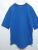 1980's RUSSELL ダブルフェイス(リバーシブル)Tシャツ 無地 青×黄 表記(L) USA製 100%コットン