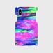 【iPhoneスマホケース側表面印刷】rainbow-colorpencil02(ブルーピンク)